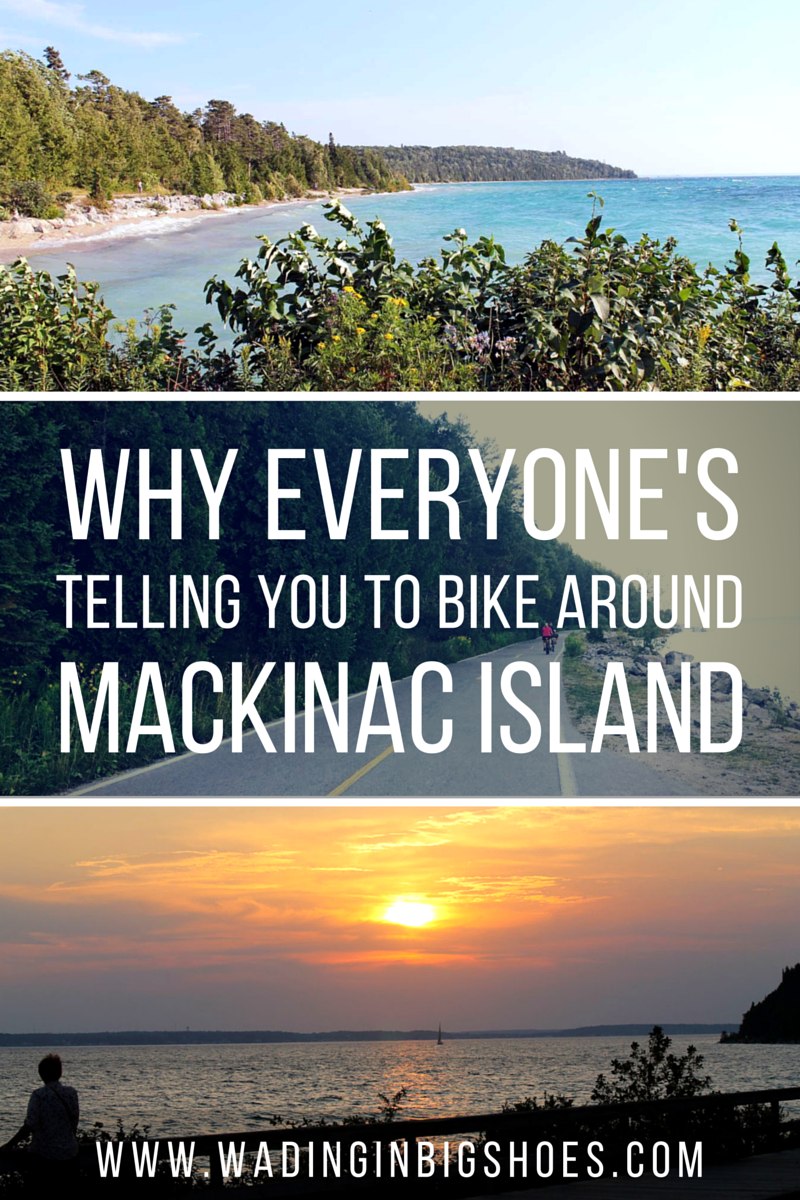 Why Everyone's Telling You To Bike Around Mackinac Island - Friends telling you to bike around Mackinac Island on your next summer getaway? Here's why that 8-mile bike ride comes so highly recommended (and why you should try it)! [via Wading in Big Shoes]