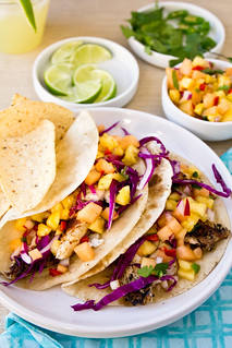 Fish Tacos with Cantaloupe-Pineapple Salsa | by TheBrewer&TheBaker