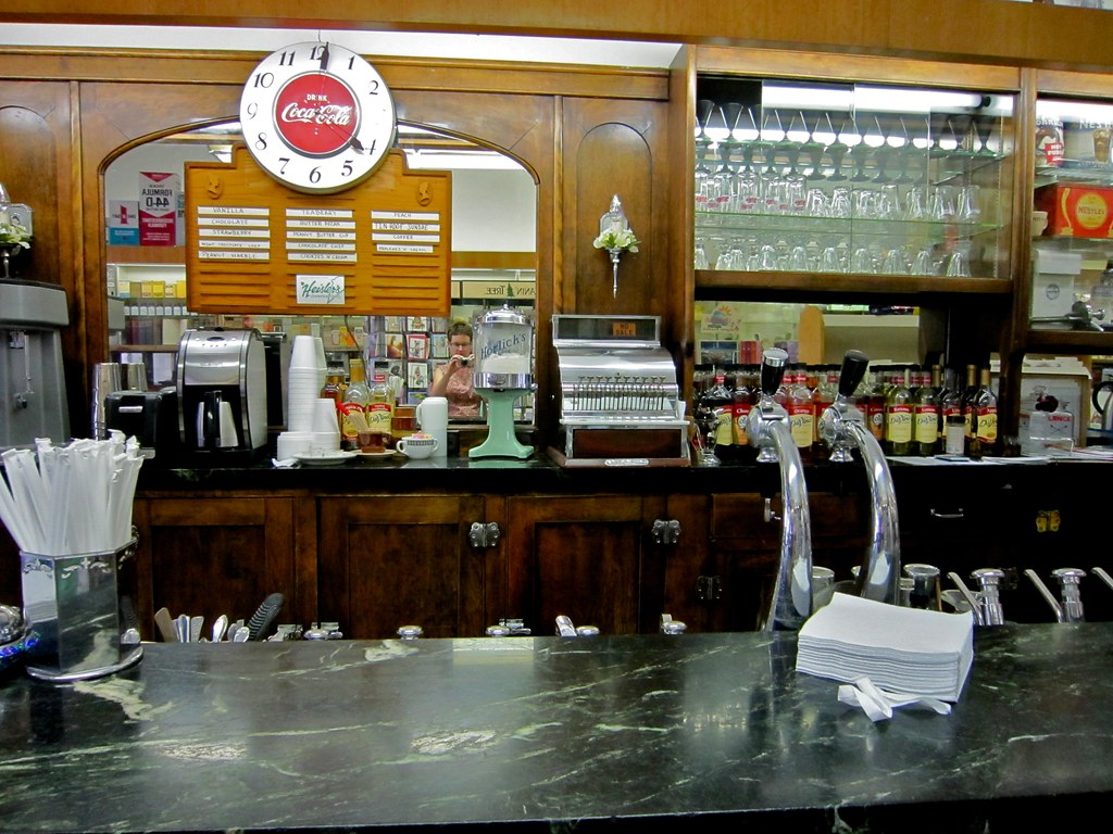 adams bright pharmacy and soda fountain detail flickr. Black Bedroom Furniture Sets. Home Design Ideas