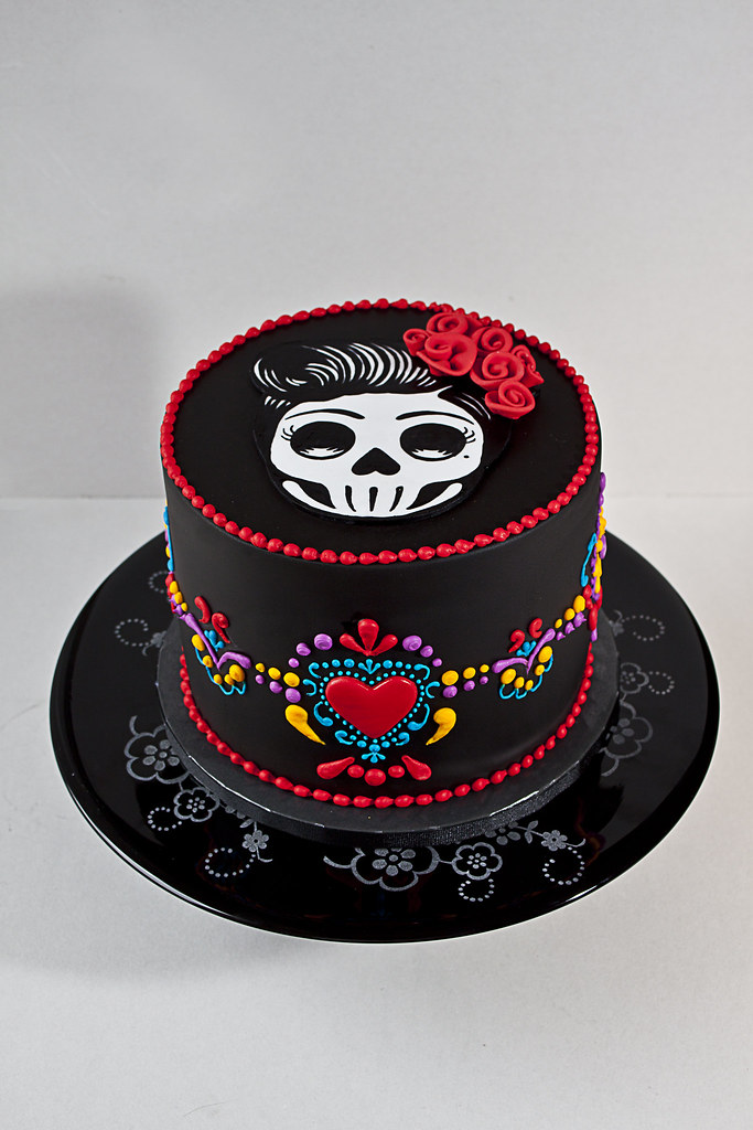 Skull Birthday Cake Photos