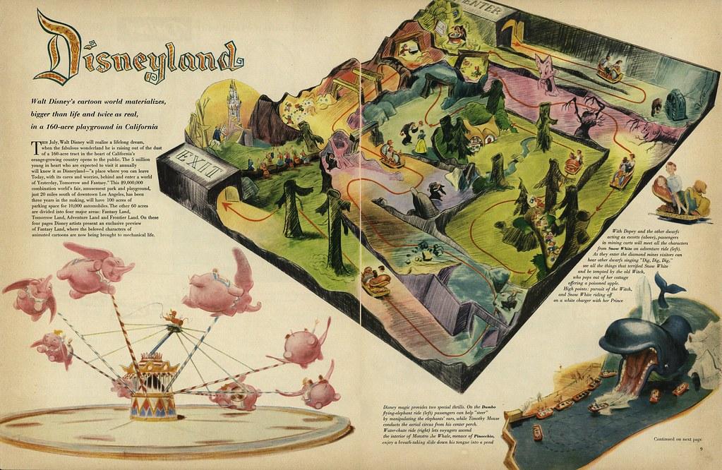 Fantasyland Rides 1955 Disneyland Anaheim Ca 169 Disney