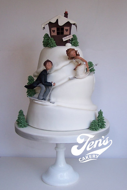 Ski Slope Wedding Cake Flickr Photo Sharing