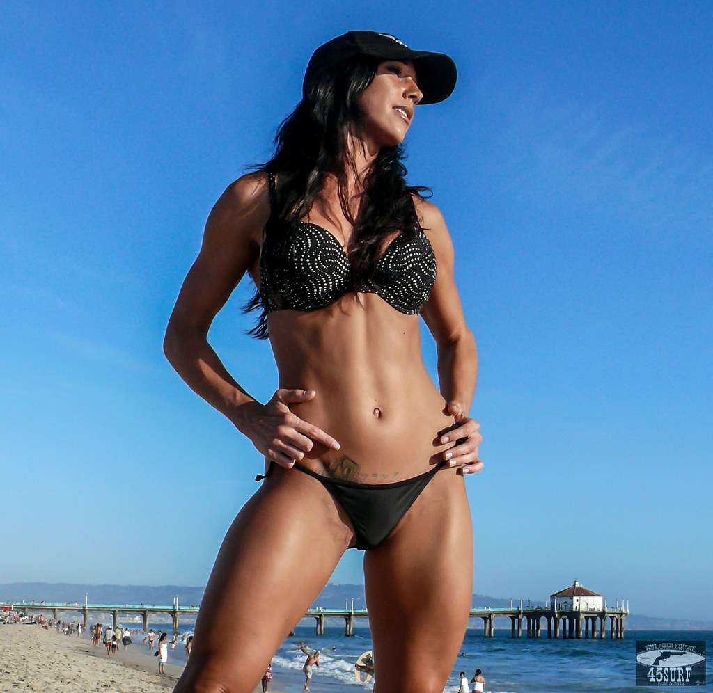 Beautiful Brunette Surf Girl Bikini Swimsuit Model Goddess