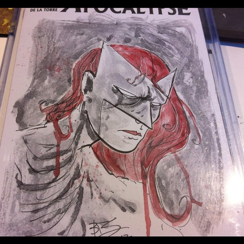 A DC Character on a Marvel Sketch cover... Heh | by Ben Templesmith