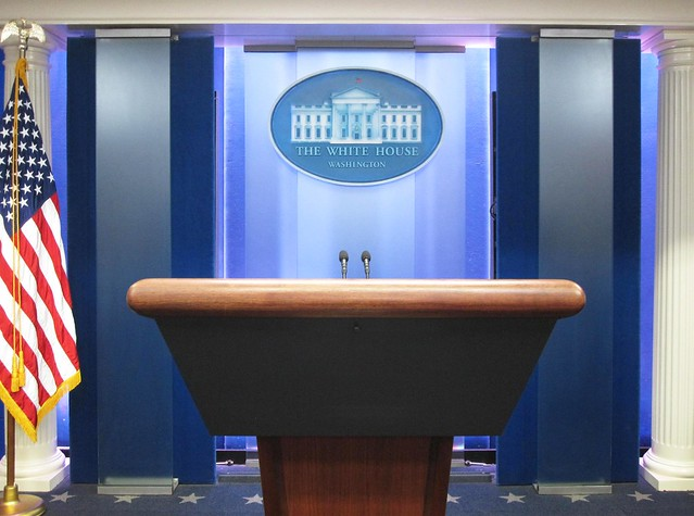 White House Briefing Room Empty