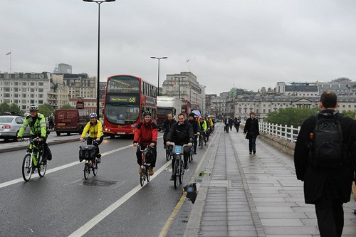 The APPCG ride crosses Waterloo Bridge | by allpartycycling