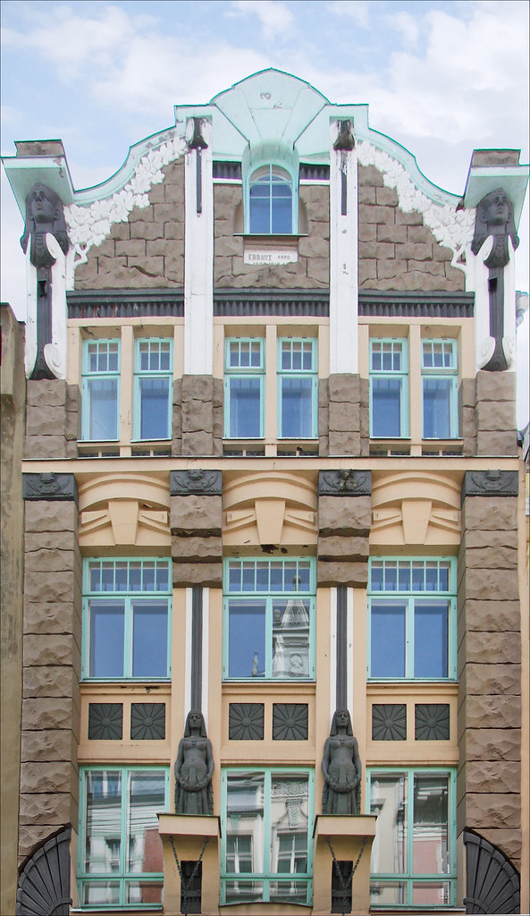 Immeuble art nouveau tallinn estonie partie haute de for Architecte 3d wiki