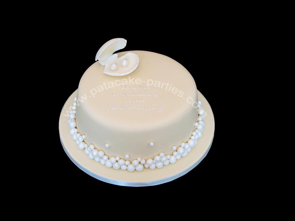 Pearl Wedding Anniversary Cakes Pearl Wedding Anniversary