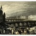 028-Mercado de las flores y puente del cambio en Paris-Wanderings by the Seine from Rouen to the source 1835- Joseph Mallord W.Turner