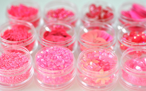 Organizing my pink beads & sequins | by toriejayne