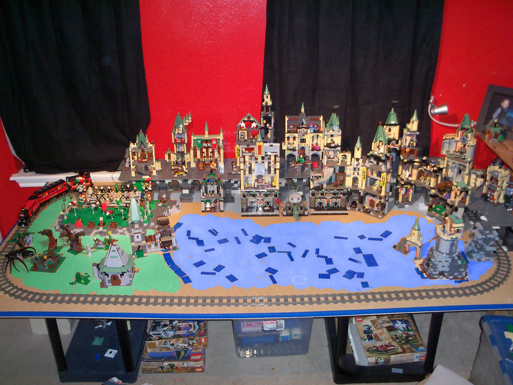 Lego Harry Potter Diorama Had This All Set Up In My Son