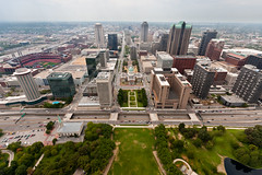 View from St Louis Arch