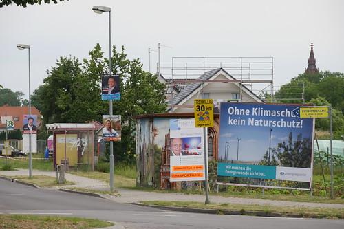 Wahlkampfplakate in der Gartenstraße