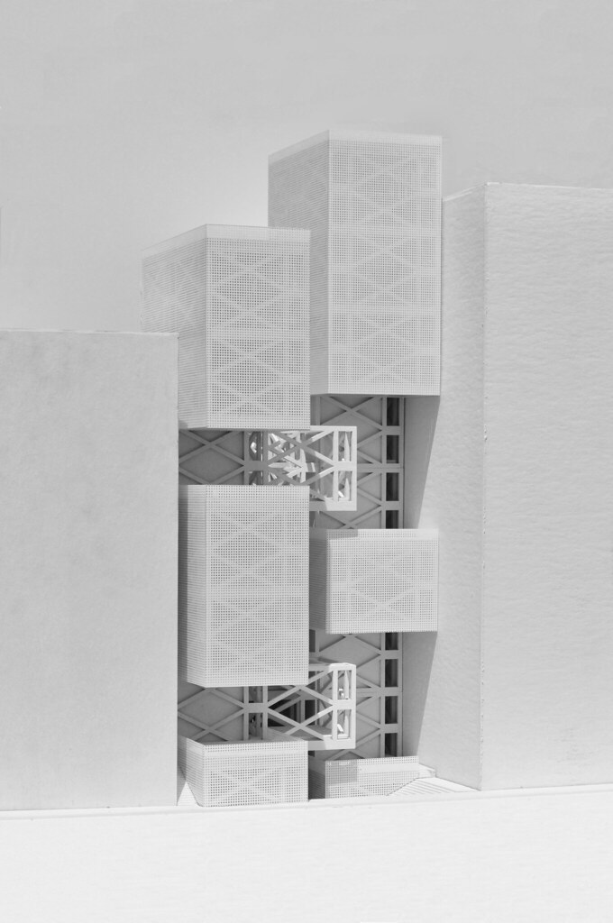 vertical streetscape physical model