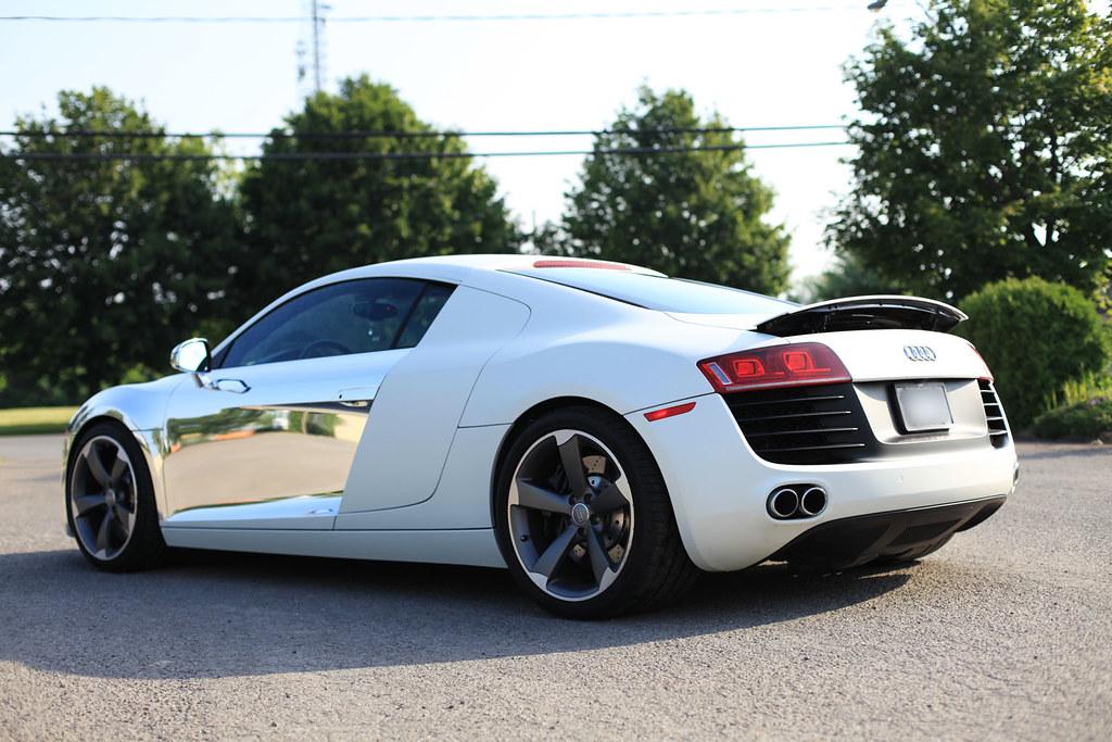 Audi R8 Wrap Chrome Amp Matte White Pearl Audi R8 Wrap