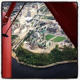Nice view of Parliament Hill in Ottawa on a biplane flight from the Canada Aviation and Space Musuem. | by stachiew