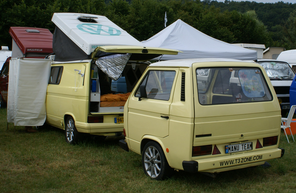 vw transporter t3 met matching trailer kathleen theo flickr. Black Bedroom Furniture Sets. Home Design Ideas