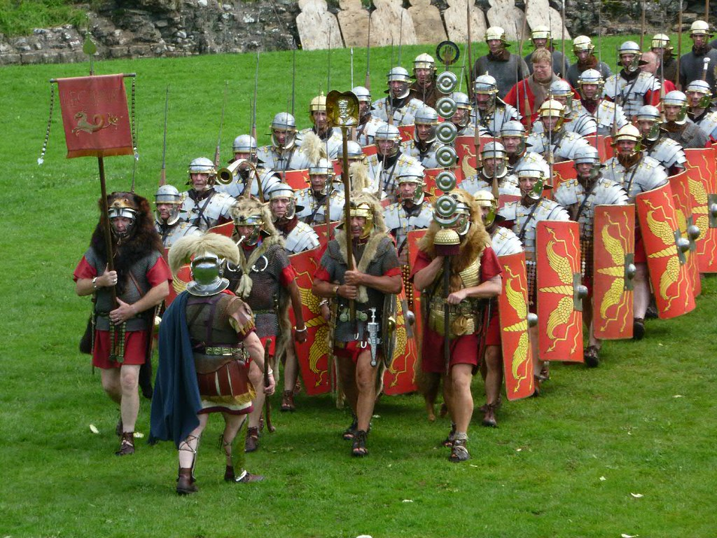 Ermine Street Guard | Marching into the amphitheatre at ...