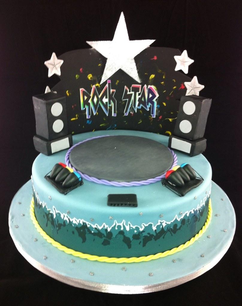 Rock Star Birthday Cake Images