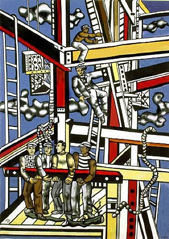 fernand leger les constructeurs etat definitif constru flickr. Black Bedroom Furniture Sets. Home Design Ideas
