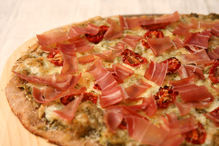 prosciutto goat cheese pizza 5 | by crumblycookie