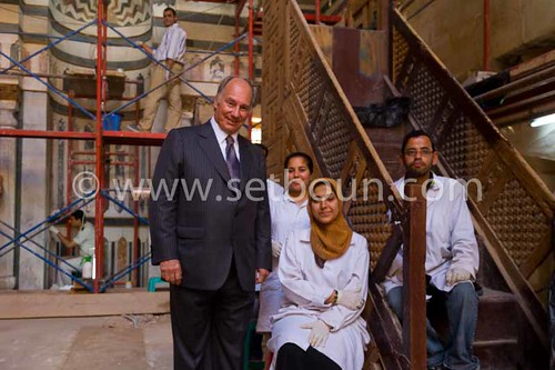 Egypt. Cairo : The prince Karim Aga Khan visit  Shaban - Cha'Ban - Mosque. a  project of the Aga Khan foundation. in the old islamic city  Cairo  Egypt  + | by setboun photos