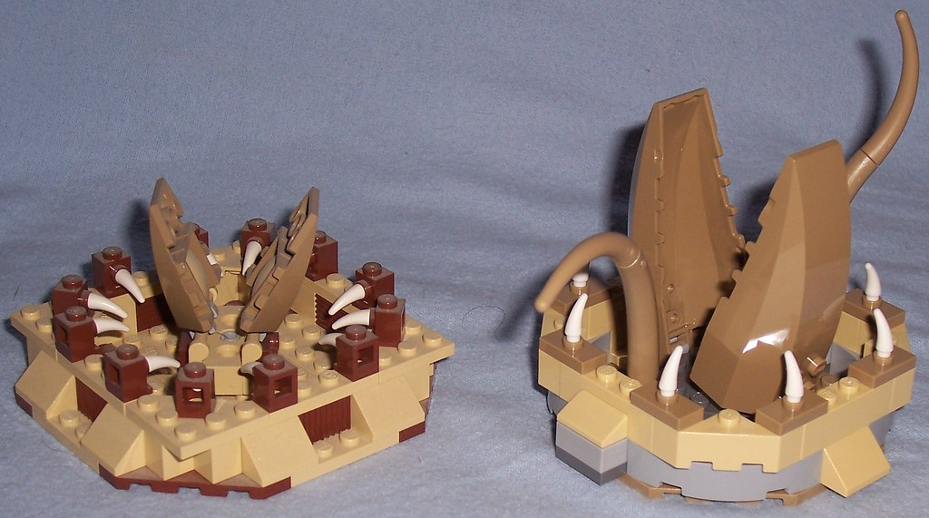 Lego Sarlacc Pit Comparison | Left: from Lego 6210 - Jabba's ...