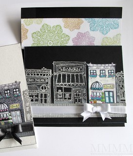 black POD hometown card & envelope mel stampz | by melstampz