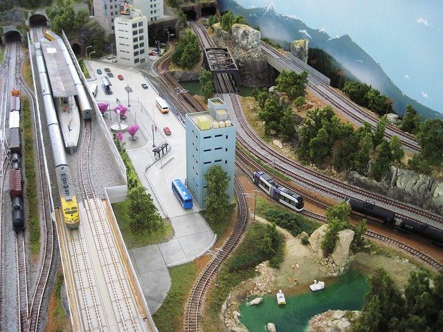 N scale model train layout kato city flickr photo sharing - Ho train layouts for small spaces image ...