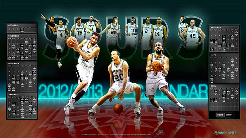 2012-2013 Spurs Regular Season Calenedar | by jalberto - pd