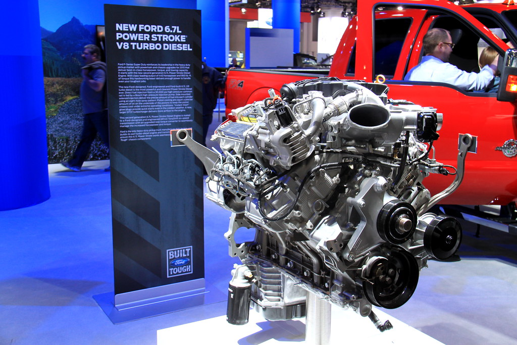 Ford 6 7l Power Stroke V8 Turbo Diesel Engine At The 2014