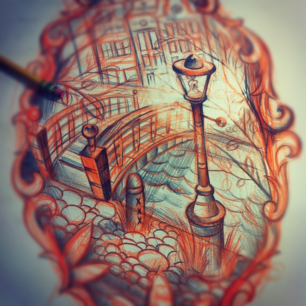 Amsterdammetje halfsleeve amsterdam inspired tattoo sk for Amsterdam tattoo artists