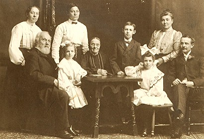 About 1900 Carl Ludwig Rominger 1820 1907 And His Famil