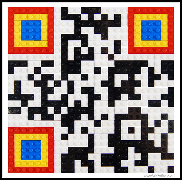 lego qr code brick a thon flickr photo sharing. Black Bedroom Furniture Sets. Home Design Ideas