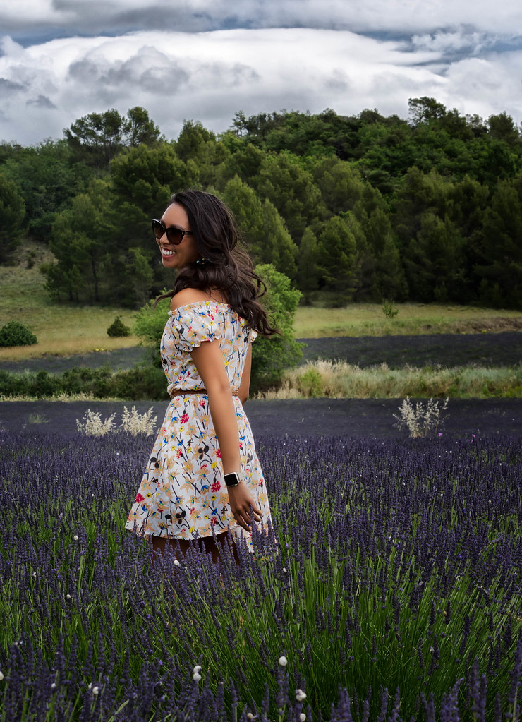 Flower Smmer Dress and Lavender Smiling.jpg