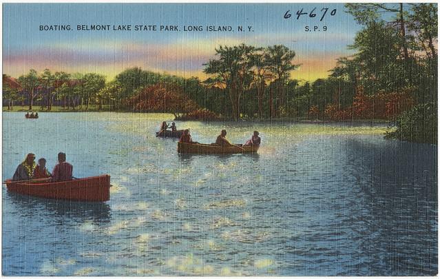 Boating Belmont Lake State Park Long Island N Y