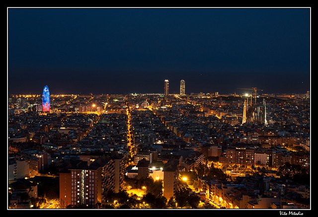 Barcelona De Noche Flickr Photo Sharing