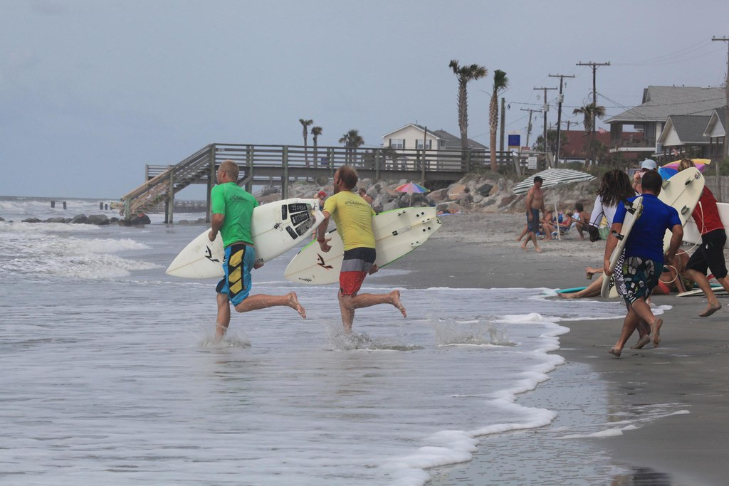Surfing competition folly beach sc
