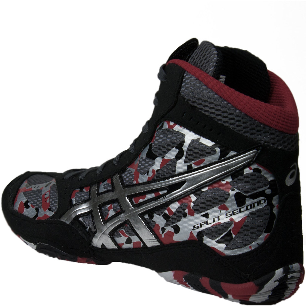 Black And Red Asics Wrestling Shoes Asics Ss9 Camo Wrestling Shoes