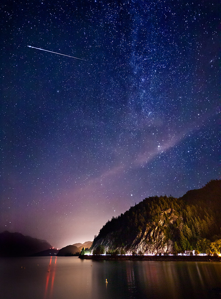 Perseid Meteor Shower As It Was A Clear Evening I