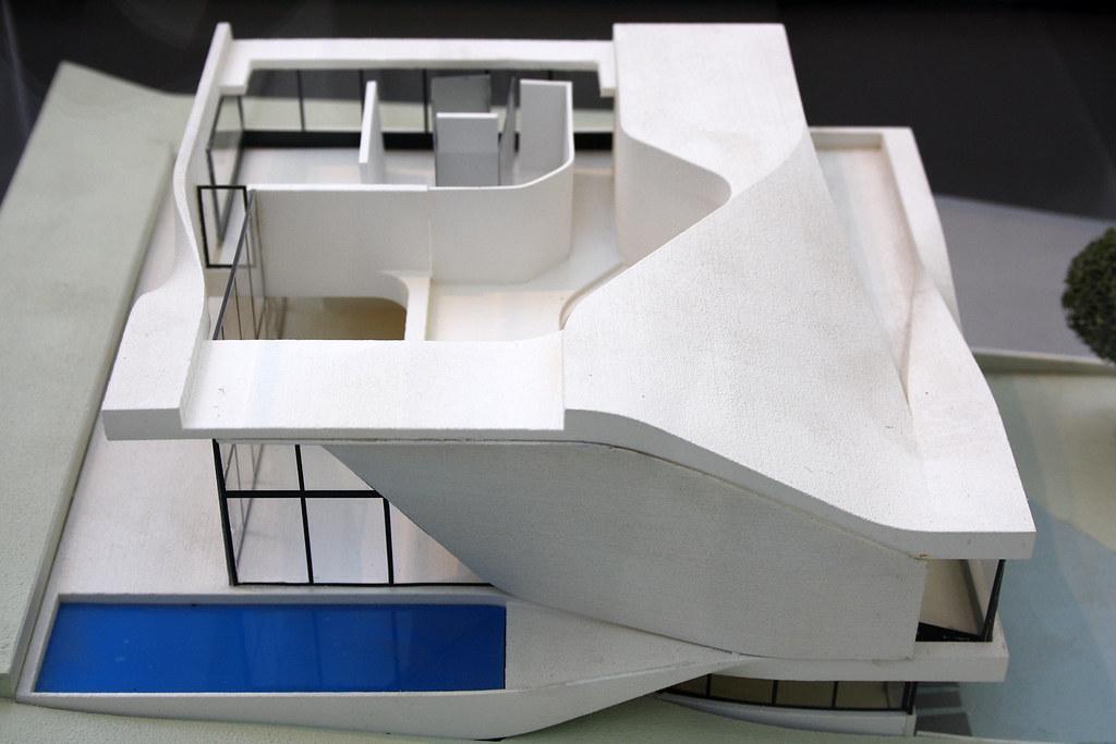 model of haus am weinberg stuttgart by unstudio ben van flickr. Black Bedroom Furniture Sets. Home Design Ideas