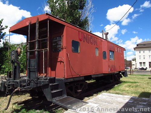 Caboose at the Medicine Bow Museum in rural Wyoming
