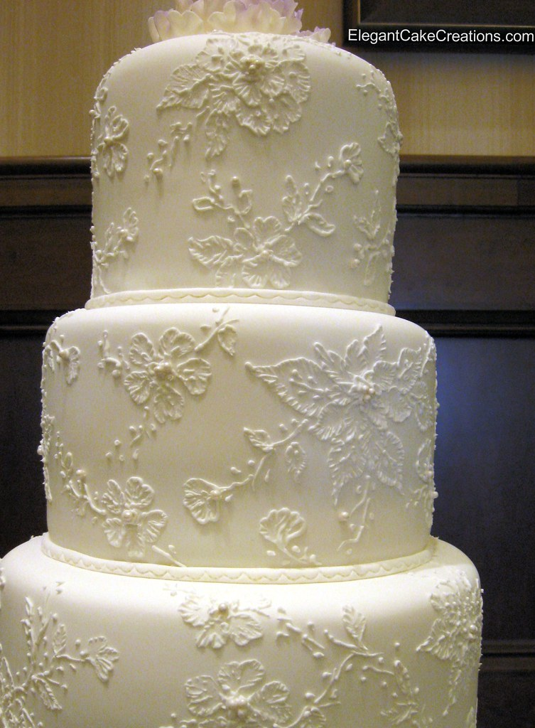 Piped Lace Cakes