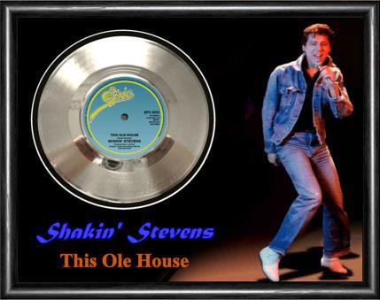 Shakin stevens this old house framed silver vinyl for Classic house cd