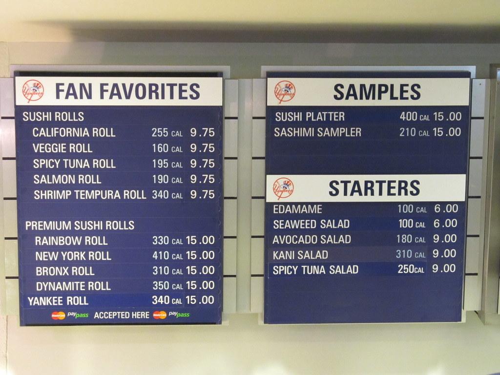 Yankees Stadium Food Prices