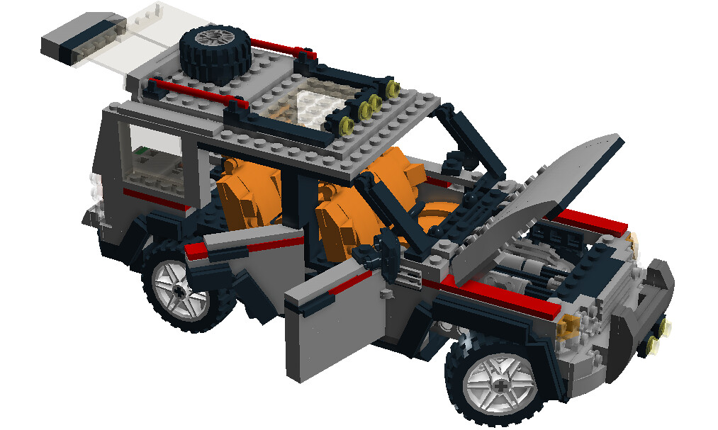 Lego City Dirt Bike Transporter Nr 4433 Recreated Landr