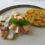 Matjessalat süß-sauer mit Rösti