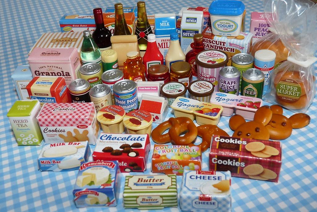 Sylvanian families supermarket food miniatures chani for Sylvanian families cuisine