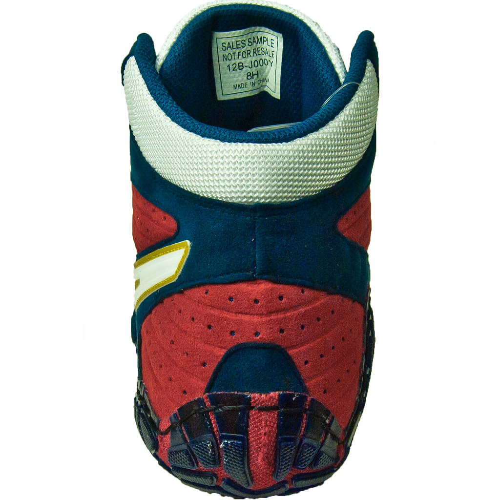 White And Red Asics Wrestling Shoes Wrestling Shoes Navy White