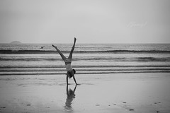 Cartwheels in the sand